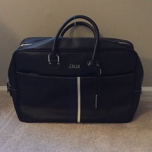 Jack Russell Malletier 2-zip leather briefcase